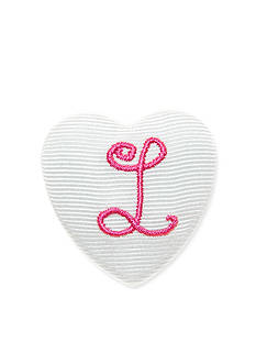 Riviera Monogram 'L' Heart Button