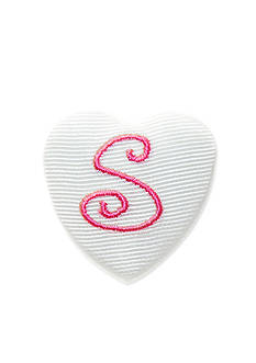 Riviera 'S' Heart Button Pin
