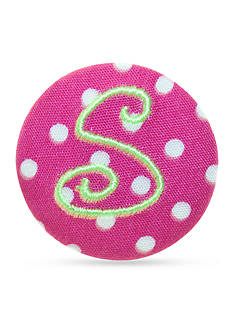 Riviera Monogram Polka Dot Hair Button