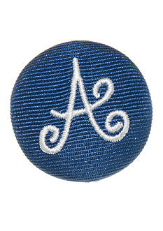 Riviera Round Shaped Monogram 'A' Pinnable