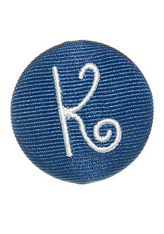 Riviera Round Shaped Monogram 'K' Pinnable