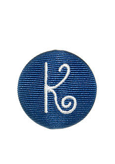 Riviera Monogram 'K' Round Shaped Monogram Pinnable