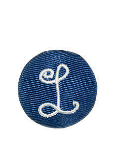 Riviera Monogram L Round Shaped Monogram Pinnable Clip