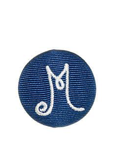 Riviera Monogram M Round Shaped Monogram Pinnable Clip
