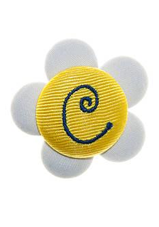 Riviera Daisy Monogram C Button Pin Clip