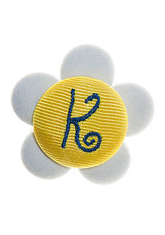 Riviera Daisy Monogram K Button Pin Clip