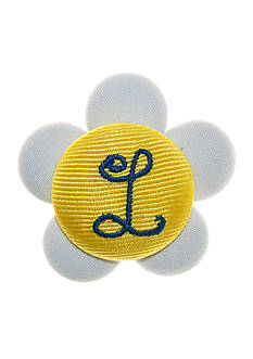 Riviera Daisy Monogram L Button Pin Clip