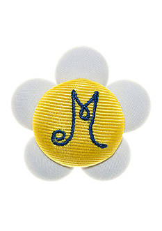 Riviera Daisy Monogram M Button Pin Clip