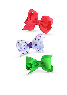 Riviera 3-Pack Grosgrain Solid and Dot Bows