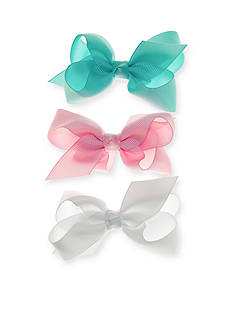 Riviera 3-Piece Solid Grosgrain Bow Set