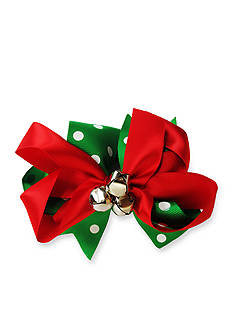 Riviera Polka Dot & Satin Jingle Bell Bow