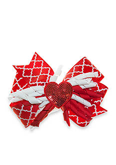 Riviera Sequin Heart Corker Bow