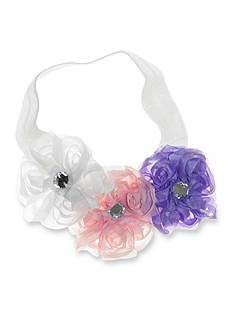 Riviera Center Stone Trio Rosette Headwrap