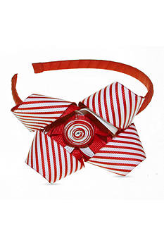 Riviera Headband with Peppermint Stacked Loop Bow