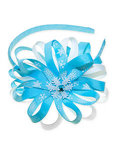Riviera Headband with Snowflake Pinwheel Bow Accessory