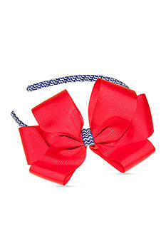 Riviera Solid Bow on Zig-Zag Headband