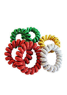 Riviera Set of 6 Glitter Telephone Cord Hairbands