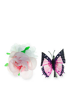 Riviera 2-Piece Butterfly & Flower Clip Set