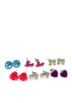 Riviera 6-Pack Assorted Earring Set