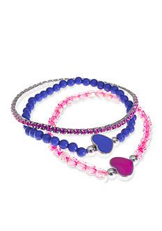 Riviera 3-Pack Beaded Heart Bracelet Set