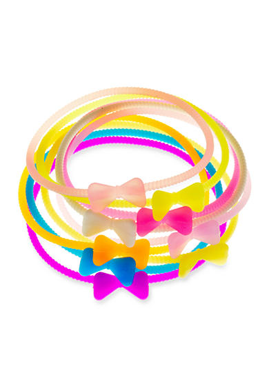 Riviera 9-Pack Bow Rubber Bracelet Set