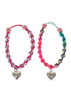 Riviera 2-Pack Best Friend Bracelets with Heart Charm Set