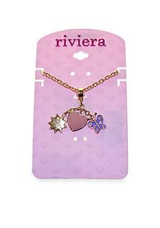 Riviera Springtime Drop Charm Necklace