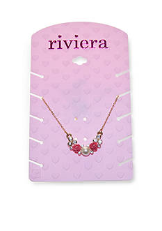 Riviera Pearl and Flower Cluster Necklace