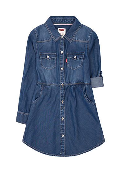 Levi's® Long Sleeve Woven Dress Girls 4-6X
