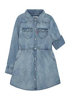 Levi's Long Sleeve Woven Dress Girls 4-6X