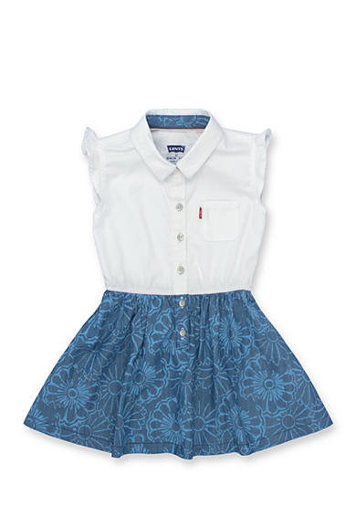 Levi's® Beach Picnic Woven Dress Girls 4-6x
