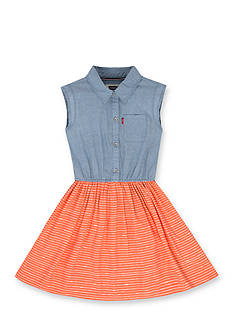 Levi's® Beach Picnic Woven Dress Girls 4-6x