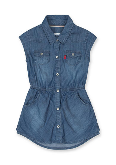 Levi's® Open Road Woven Dress Girls 4-6x