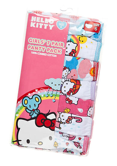 Hello Kitty® 7-Pack Assorted Panties Girls 4-8