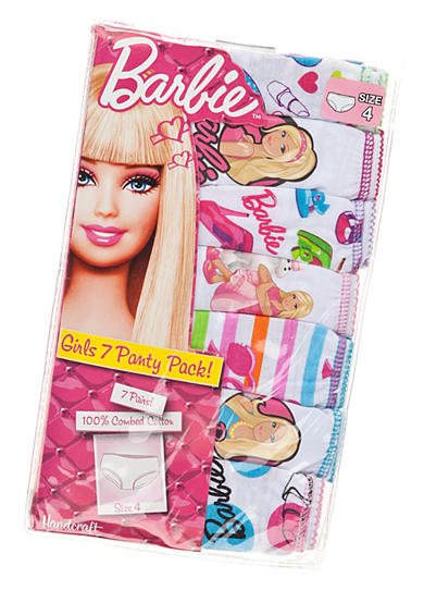 Mattel® 7-Pack Barbie Panty Girls 4-8