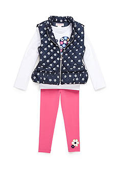 Flapdoodles Nautical Daisy 3-Piece Vest Set Girls 4-6X