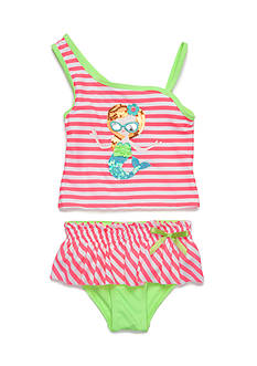 Flapdoodles 2-Piece Mermaid Tankini Set Girls 4-6X