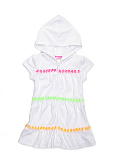 Flapdoodles Hooded Terry Cover-Up Girls 4-6X