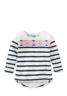 OshKosh B'gosh Long Sleeve Stripped Print Tunic Girls 4-6x