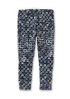 OshKosh B'gosh Navy Heart Print Leggings Girls 4-6x