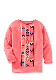 OshKosh B'gosh® Long Sleeve Aztec Print Tunic Girls 4-6x