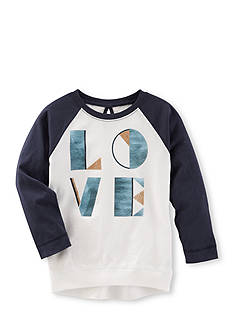 OshKosh B'gosh® Long Sleeve Love Raglan Tunic Girls 4-6x