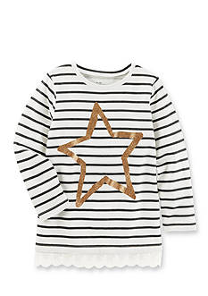 OshKosh B'gosh® Long Sleeve Striped Star Tunic Girls 4-6x