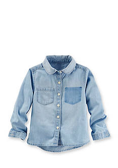 OshKosh B'gosh® Removed Pocket Chambray Top Girls 4-6X