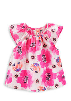 OshKosh B'gosh Floral Print Poplin Top Girls 4-6x