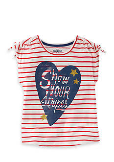 OshKosh B'gosh Show Your Stripes Tee Girls 4-6x
