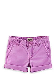 OshKosh B'gosh Twill Roll-Cuff Shorts Girls 4-6x