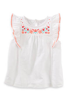 OshKosh B'gosh Embellished Flutter-Sleeve Top Girls 4-6x