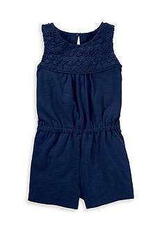 OshKosh B'gosh® Crocheted Jersey Romper Girls 4-6x