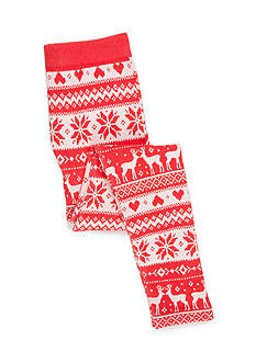 Red Camel Fleece Deer Print Legging Girls 7-16